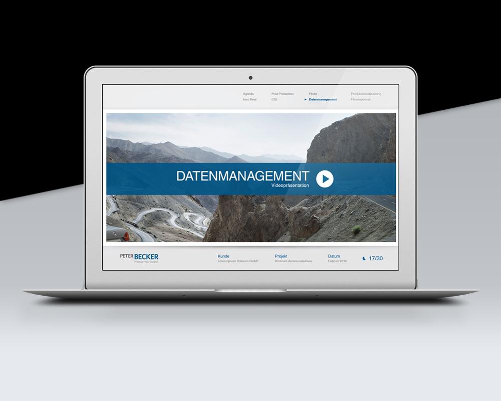 Flurdesign Peter Becker Media Corporate Presentation Design